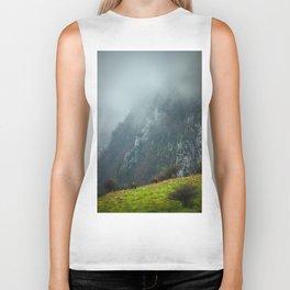 Mountains landscape Biker Tank
