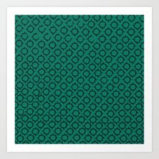Teal Pattern Art Print