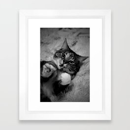Puff and her bug Framed Art Print