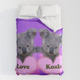Koalas Love and Hearts Comforters