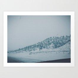 Snowy Montana Art Print