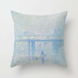 "Claude Monet ""Charing Cross Bridge"" Throw Pillow"