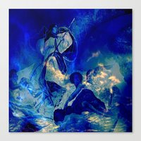 angels Canvas Prints featuring angels by  Agostino Lo Coco