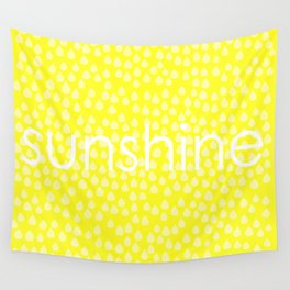 sunshine in the rain Wall Tapestry