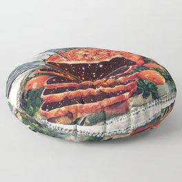 Roast with Mushrooms Floor Pillow