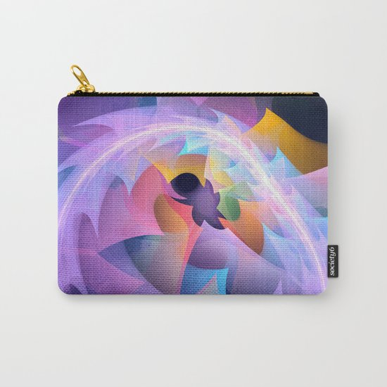 Cyclone of feelings, colourful fractal abstract Carry-All Pouch