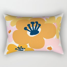 Abstraction_Flowers_Blossom_001 Rectangular Pillow
