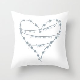 it will always be summer Throw Pillow