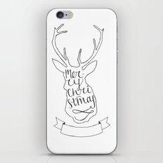 Merry Christmas Deer (1) iPhone Skin