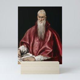 """El Greco (Domenikos Theotokopoulos) """"Saint Jerome as Scholar"""" Mini Art Print"""