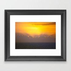 Makaha Sunset Framed Art Print
