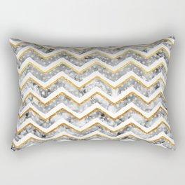 2017 NEW Gold Chevron Rectangular Pillow