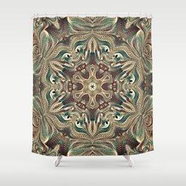 Flower Of Life Mandala (Earthy) Shower Curtain