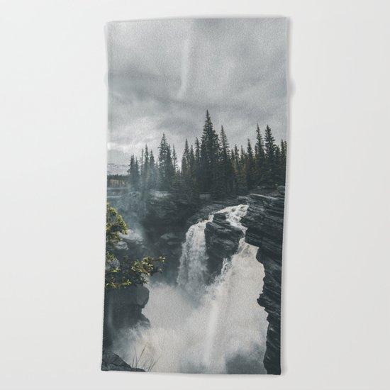 Athabasca Falls Alberta Beach Towel