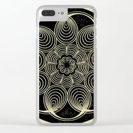 Antique Spiral Geometry Clear iPhone Case