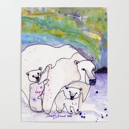 Polar Bear Mommy Poster