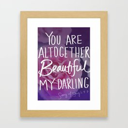 Beautiful (Song of Songs 4:7) Framed Art Print