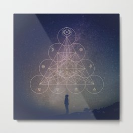 Alchemical Tetractys Metal Print