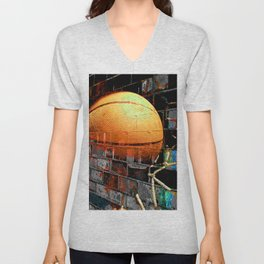 Basketball art swoosh 51 Unisex V-Neck