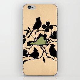 Virginia - State Papercut Print iPhone Skin