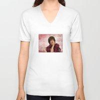 chihiro V-neck T-shirts featuring Chihiro from Spirited Away 2 by Kimberly Castello
