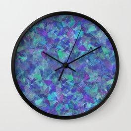 Iridescent Fragments Wall Clock