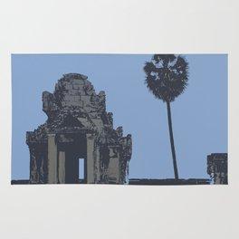 Crypt at Angkor Wat with Palm Tree Rug