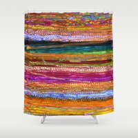 indian Shower Curtains featuring Indian Colors by Joke Vermeer