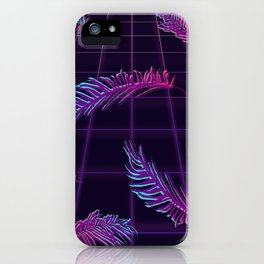 Synthwave Palm Leaves iPhone Case