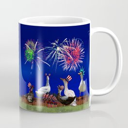Ducky Celebration for the 4th of July Coffee Mug