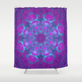 Pink, Purple, and Blue Pixels Shower Curtain