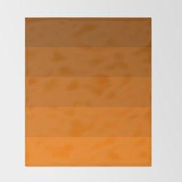 Orange Brown Stripes Throw Blanket