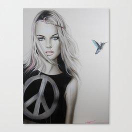 'Peace, Love & Psychadelia' Canvas Print