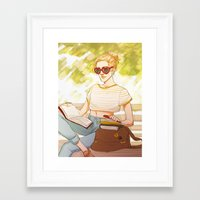 enjolras Framed Art Prints featuring Summer Enjolras by batcii
