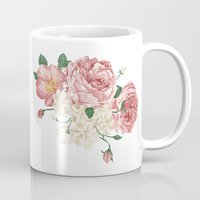 wwe Mugs featuring Watercolor rose by eARTh