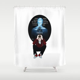 Sterek Drowning print Shower Curtain