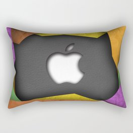 Leather and Paper Rectangular Pillow