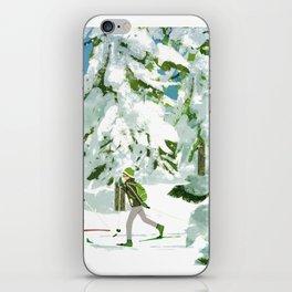 Cross Country Skiing iPhone Skin