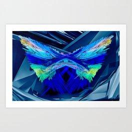 Fractal Moth Art Print