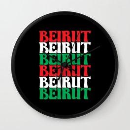 Beirut Lebanon Support Lebanese Wall Clock