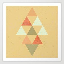 Being Mindful, Geometric Triangles Art Print