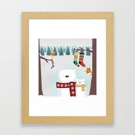Christmas time Framed Art Print