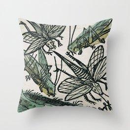 Locusts Throw Pillow