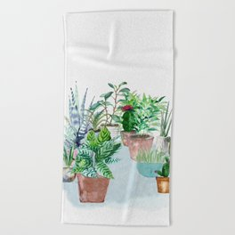 Plants 2 Beach Towel