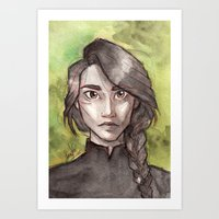 katniss Art Prints featuring Katniss by Sandra