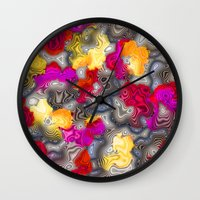 psychedelic Wall Clocks featuring Psychedelic by Pat Giancontieri -Artzlady-