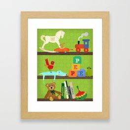 Kiddies Shelf Framed Art Print