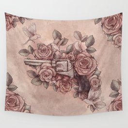 Guns & Flowers Wall Tapestry