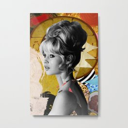 Golden Brigitte Bardot  By Zabu Stewart Metal Print