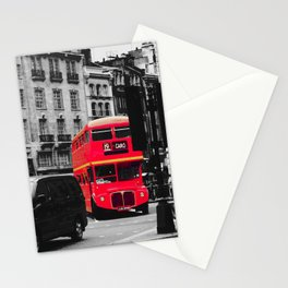 Red Bus - by Cheryl Gerhard Stationery Cards